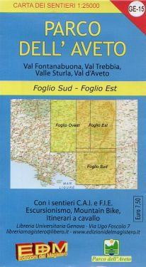 Parco dell'Aveto settore sud ed est  f.GE15 1:25.000