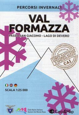 Carta scialpinistica Val Formazza, Passo San Giacomo, Lago di Devero 1:25.000