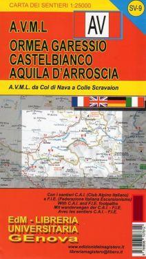 Ormea, Garessio, Castelbianco, Aquila d'Arroscia f.SV9 1:25.000