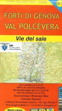 Forti di Genova, Val Polcevera, Vie del Sale f.GE10 1:25.000