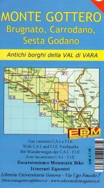 Monte Gottero, Brugnato, Carrodano, Sesta Godano, Val di Vara f.SP5 1:25.000