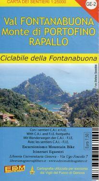 Val Fontanabuona, Monte di Portofino, Rapallo f.GE2 1:25.000