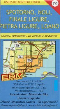 Spotorno, Noli, Finale Ligure, Pietra Ligure, Loano f.SV3 1:25.000