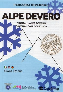 Carta scialpinistica Alpe Devero, Binntal, Baceno, San Domenico 1:25.000