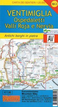 Ventimiglia, Bordighera, Ospedaletti, Valli Roja e Nervia f.IM3 1:25.000
