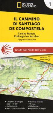 Cammino di Santiago de Compostela vol.1 - atlante 1:50.000
