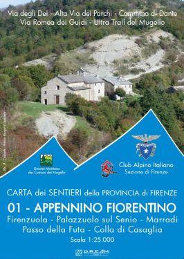 Appennino Fiorentino f.1 1:25.000 - Firenzuola, Palazzuolo sul Senio