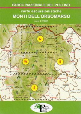 Monti dell'Orsomarso set 4 carte 1:20.000