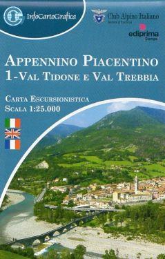 Appennino Piacentino 1 - Val Tidone e Val Trebbia 1:25.000