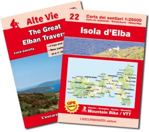 40 - Isola d'Elba map (Elba Island) 1:25.000 hiking and MTB