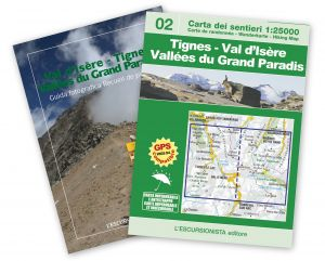 02 - Val d'Isère - Tignes - Vallées du Grand Paradis carta dei sentieri 1:25.000 ANTISTRAPPO
