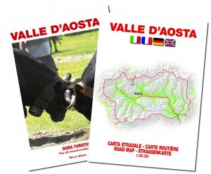 Valle d'Aosta guida turistica + carta stradale 1:100.000