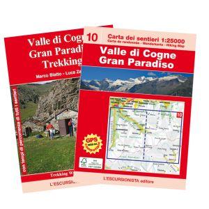 10 - Valle di Cogne, Gran Paradiso carta dei sentieri 1:25.000 ED.2016