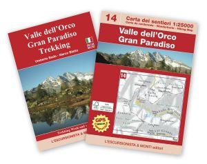 14 - Valle dell'Orco, Gran Paradiso carta dei sentieri 1:25.000 ED.2016