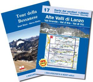 17 - Alte Valli di Lanzo - Tour della Bessanese carta dei sentieri 1:25.000