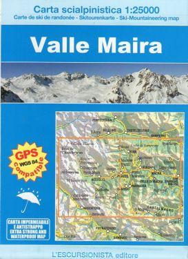 Valle Maira carta scialpinistica 1:25.000