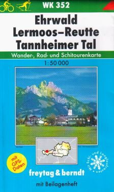 Ehrwald, Lermoos, Reutte, Tannheimer Tal 1:50.000
