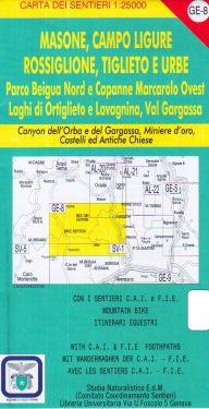 Masone, Campo Ligure, Rossiglione, Tigoleto e Urbe f.GE8 1:25.000