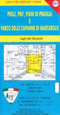 Pegli, Prà, Piani di Praglia e Parco delle Capanne di Marcarolo f.GE9 1:25.000