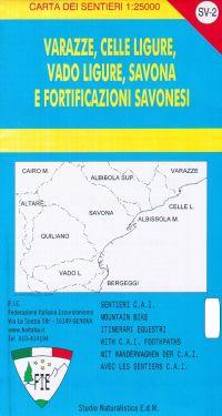 Varazze, Celle Ligure, Vado Ligure, Savona e Fortificazioni Savonesi f.SV2 1:25.000