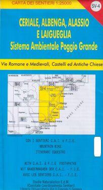 Ceriale, Albenga, Alassio e Laigueglia f.SV4 1:25.000