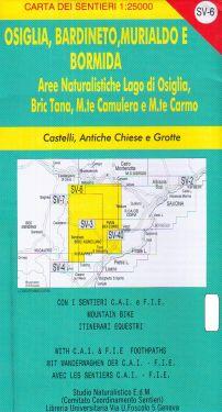 Osiglia, Bardineto, Murialdo e Bormida f.SV6 1:25.000
