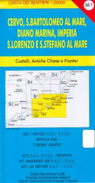 Cervo, San Bartolomeo al Mare, Diano Marina, Imperia f.IM1 1:25.000