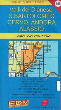 Valli del Dianese, San Bartolomeo, Cervo, Andora, Alassio f.IM6 1:25.000
