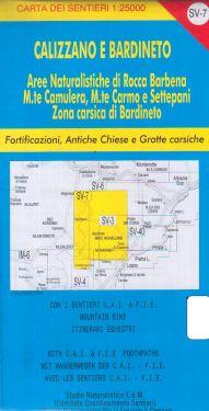Calizzano e Bardineto f.SV7 1:25.000