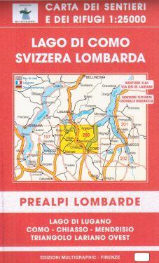 Lago di Como, Svizzera Lombarda 1:25.000