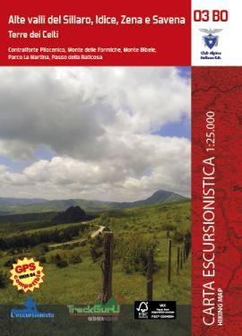 Alte Valli del Sillaro, Idice, Zena e Savena 1:25.000 + guida
