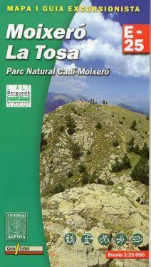 Moixero - La Tosa - Parc Natural Cldi-Moixero 1:25.000
