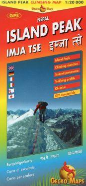 Island Peak climbing map 1:20.000