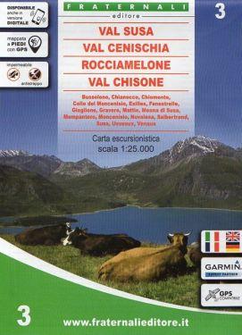 Val Susa, Val Cenischia, Rocciamelone, Val Chisone 1:25.000 f.3